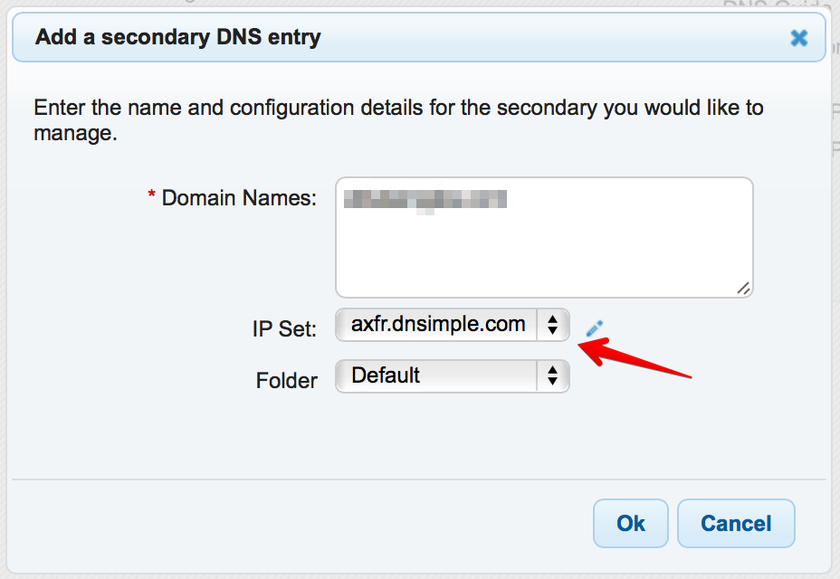 how to find secondary dns