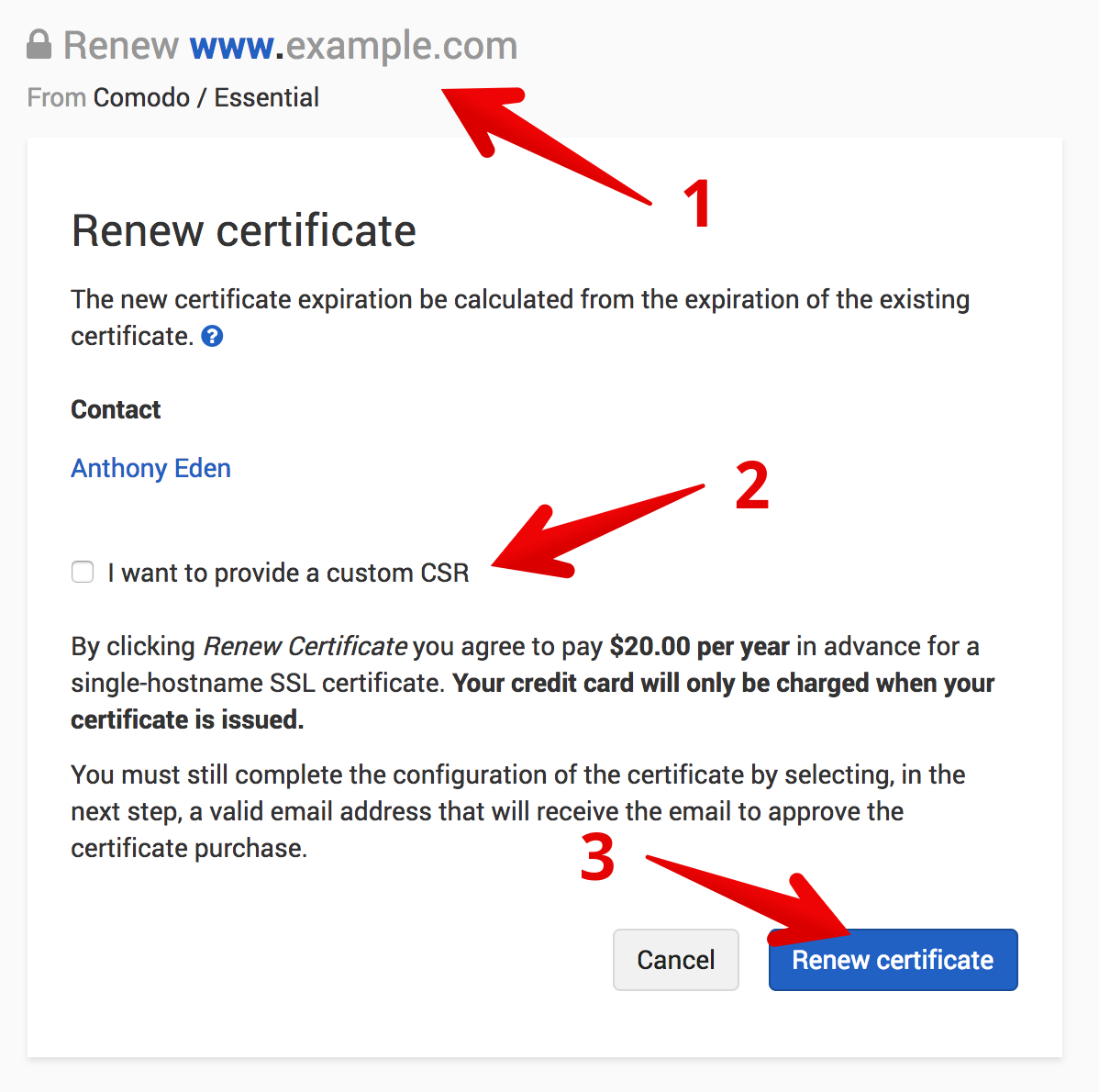 Renewing a standard ssl certificate dnsimple help renew a certificate xflitez Image collections
