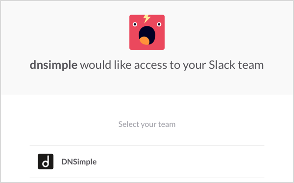 Slack Integration Step 2