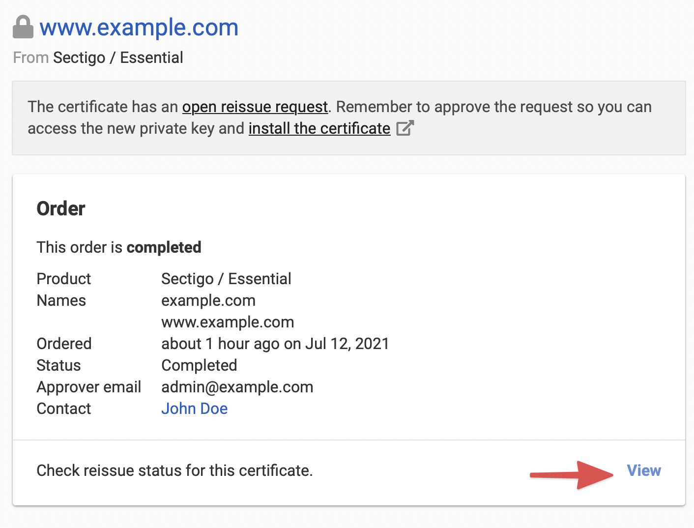 Re issuing an ssl certificate dnsimple help if you reissue request has been processed and submitted to the corresponding certificate authority it will be in a submitted state xflitez Image collections
